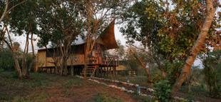 Enjoy the stunning view from the Queen Elizabeth Bush Lodge