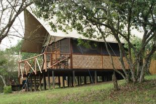 The Queen Elizabeth Bush Lodge offers a woderful camping experience