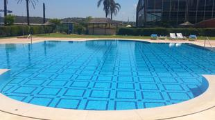 Apartment with one bedroom in Estombar with wonderful city view shared pool enclosed garden 4 km from the beach