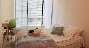 Serviced apartment with room with balcony