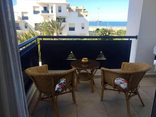 Apartment with one bedroom in Essaouira with wonderful sea view shared pool furnished terrace 100 m from the beach