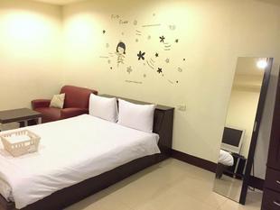 (8)溫馨雙人房 - 3分鐘步行府中站 ((8)Double bed room-3 mins walk to Fuzhong MRT Station