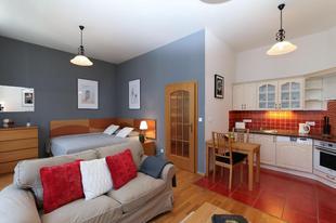布拉格02區的1臥室公寓 - 35平方公尺/1間專用衛浴Sazavska 6, # 2, Vinohrady, Praha
