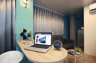 大安區的2臥室公寓 - 35平方公尺/1間專用衛浴Sky Luxury MRT Xinyi Anhe 7mins night market 1min